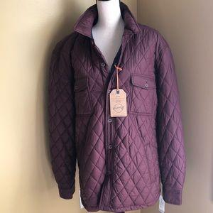 Wetherproof Vintage wine colored quilted jacket